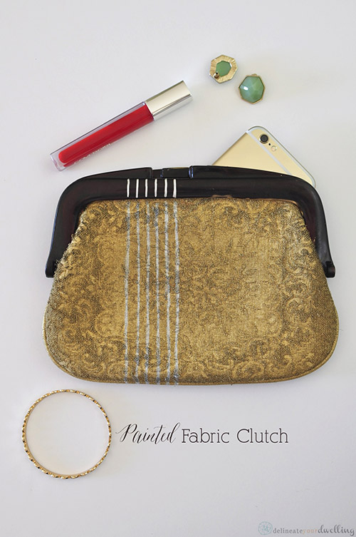 Painted-Fabric-Clutch