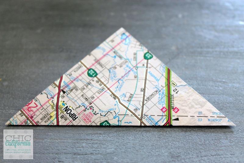 Vintage Map Ornament