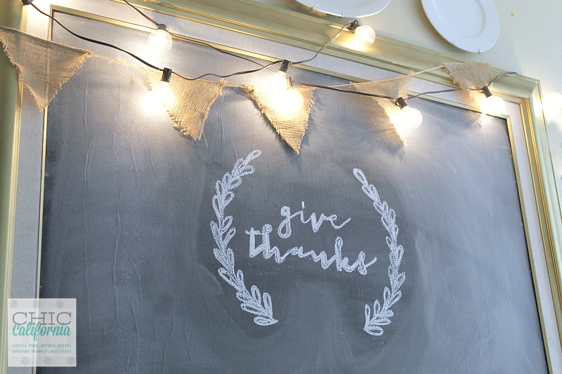 Turn an old piece of art into a chalkboard