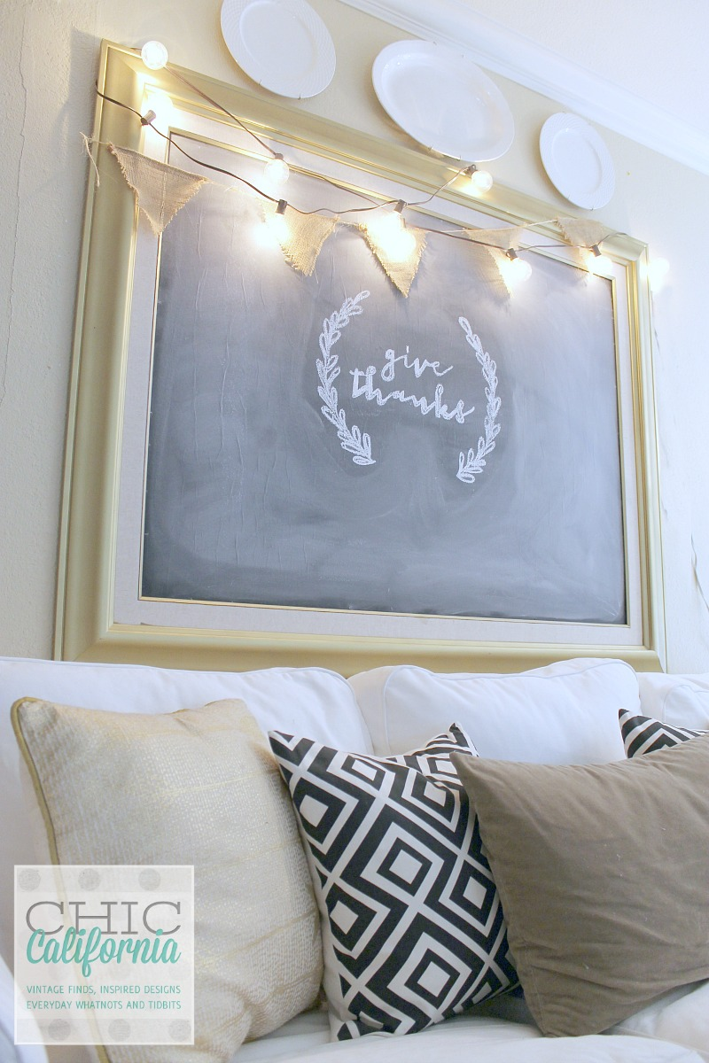 Easy art to chalkboard tutorial