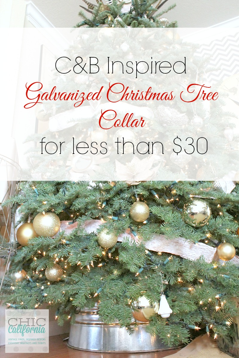 CB Inspired Galvanized Christmas Tree Collar