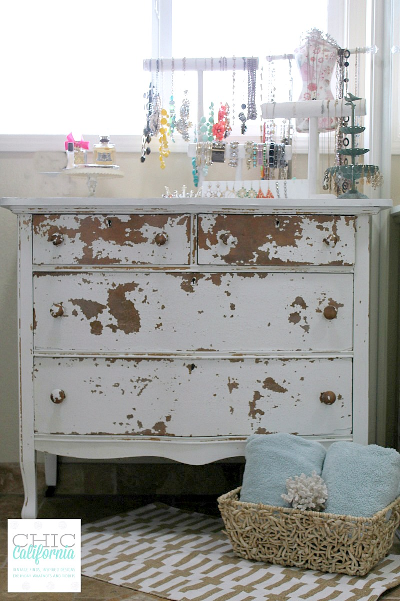 Milk Paint Farmhouse Dresser Before And After Chic