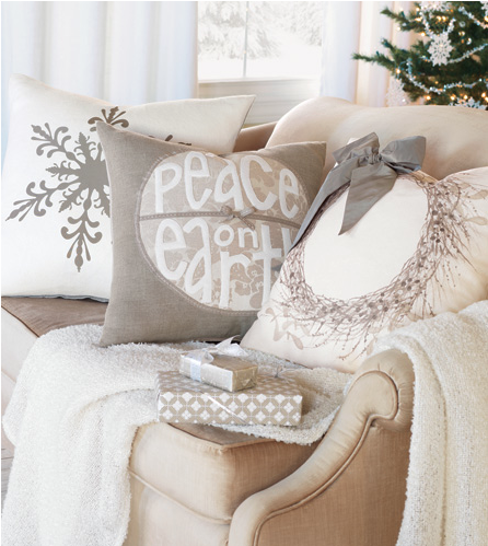 winter white pillows