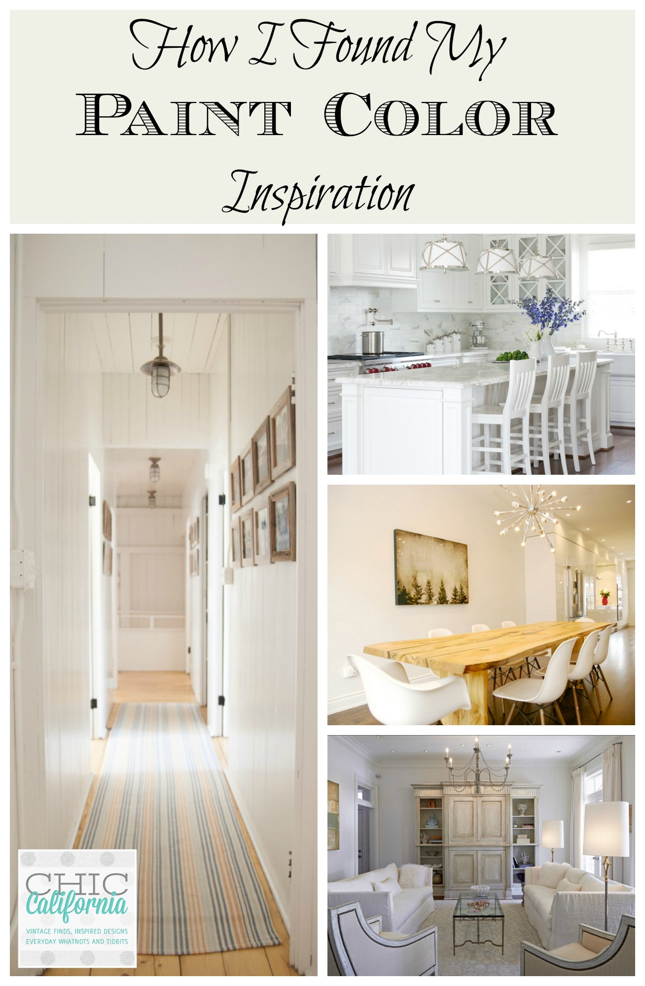 how i found my paint color inspiration chic california