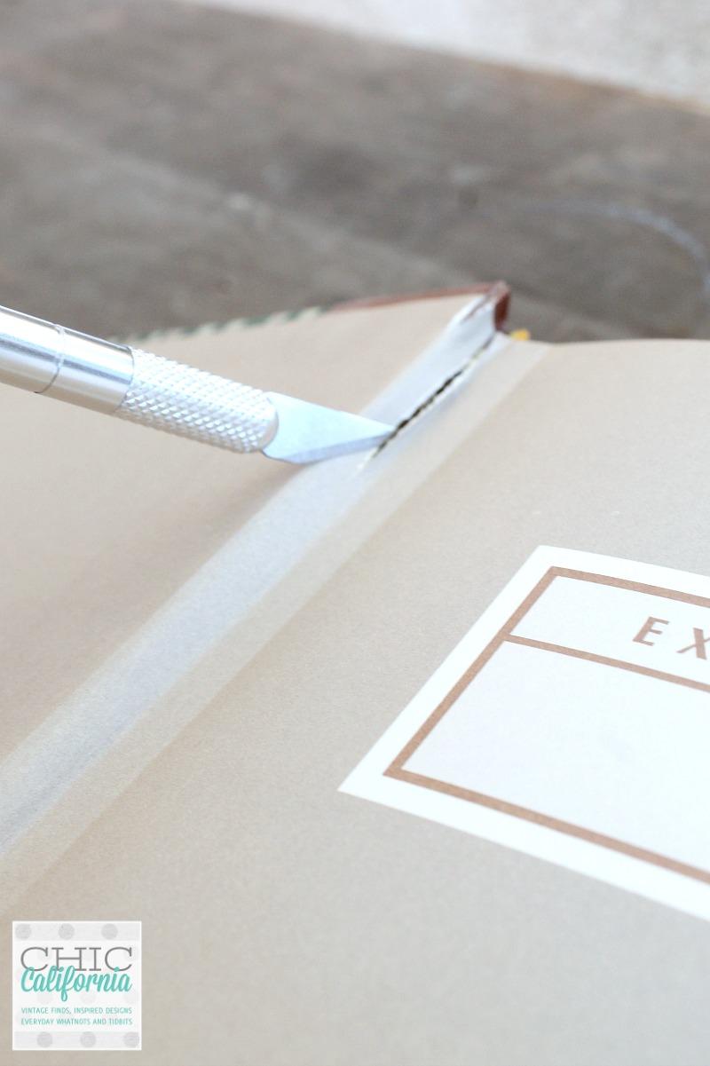 Cutting Cover off book