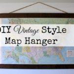 DIY Vintage Map Hanger