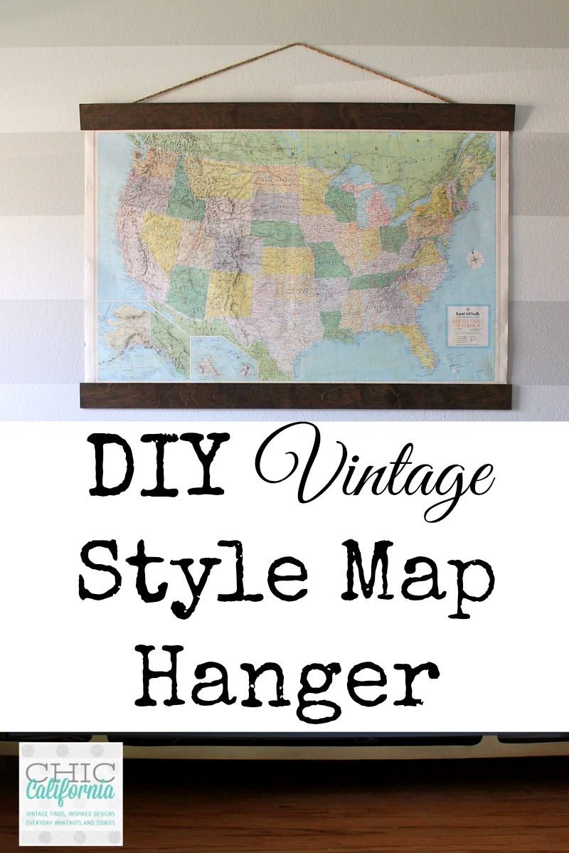 Diy Vintage Map Hanger Chic California
