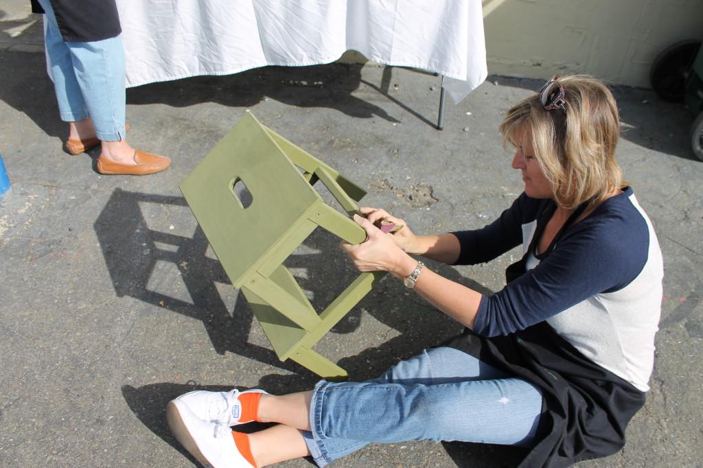sanding step stools