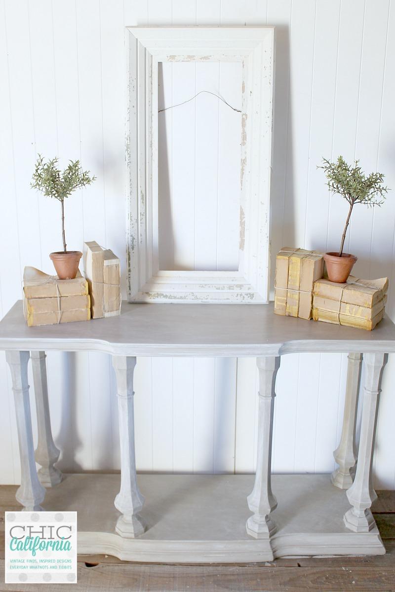 Restoration Hardware Style Weathered Wood Console Table