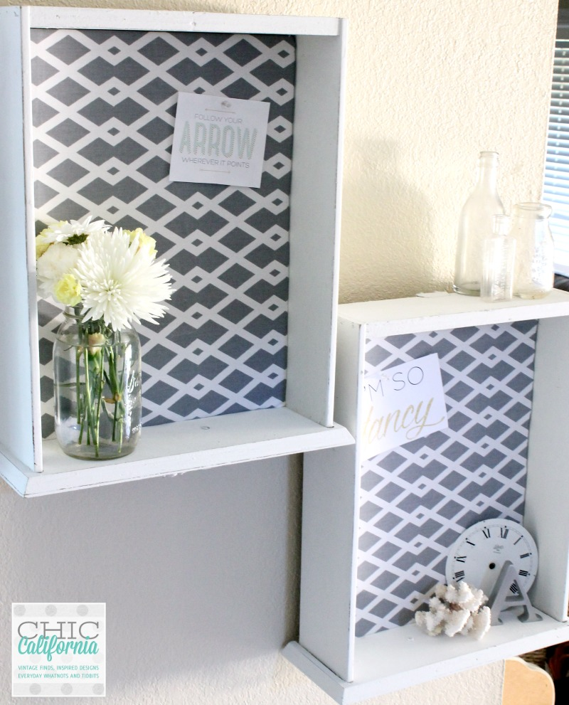 DIY fabric covered cork board from a thrift store drawer