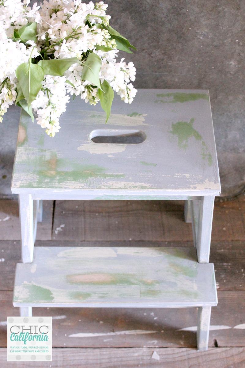 Vintage Inspired Ikea Step Stool