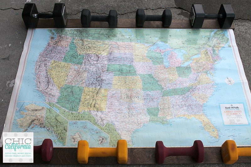 how to hang a vintage map