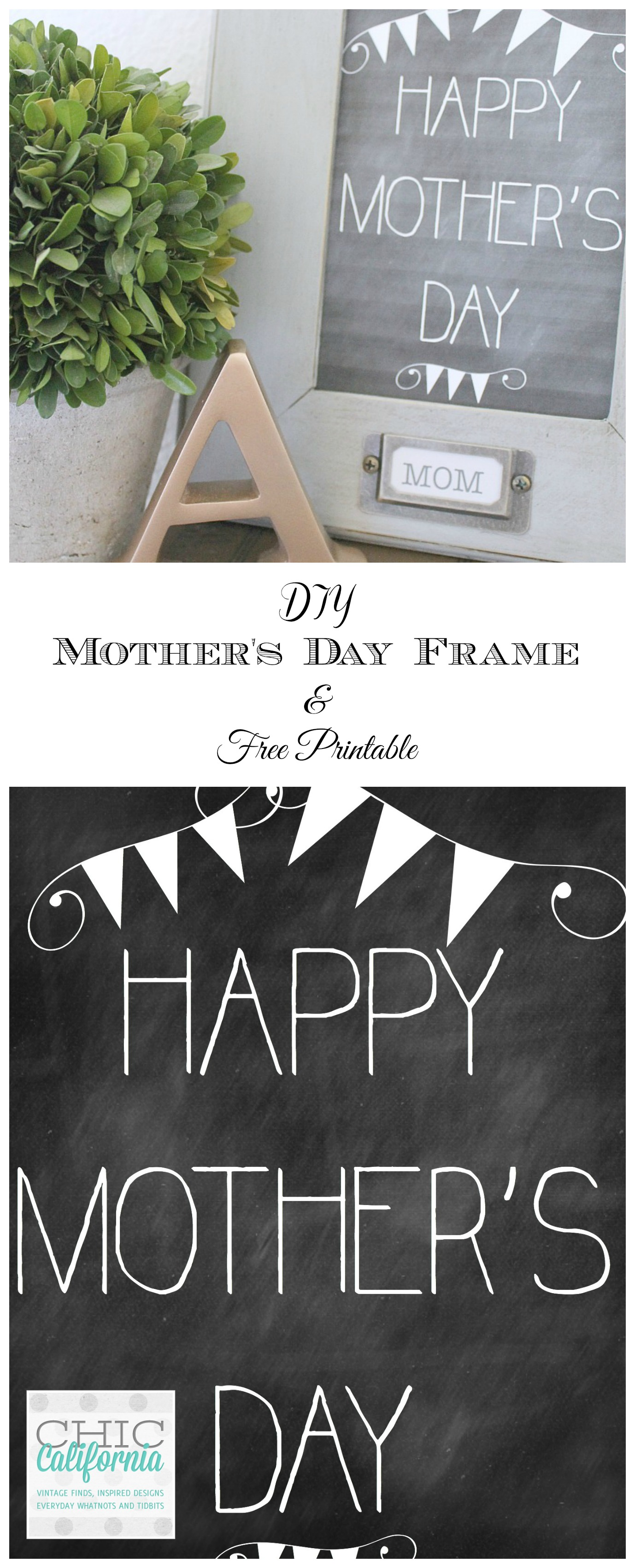 What should you get your Mom for Mother's Day. You need something personal and beautiful like your Mom. How about making her a Vintage Style Picture Frame. This easy and quick Mother's Day craft is one any mother would love!