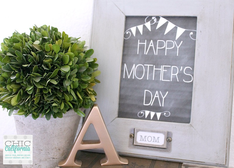 Vintage Style Mother's Day Picture Frame
