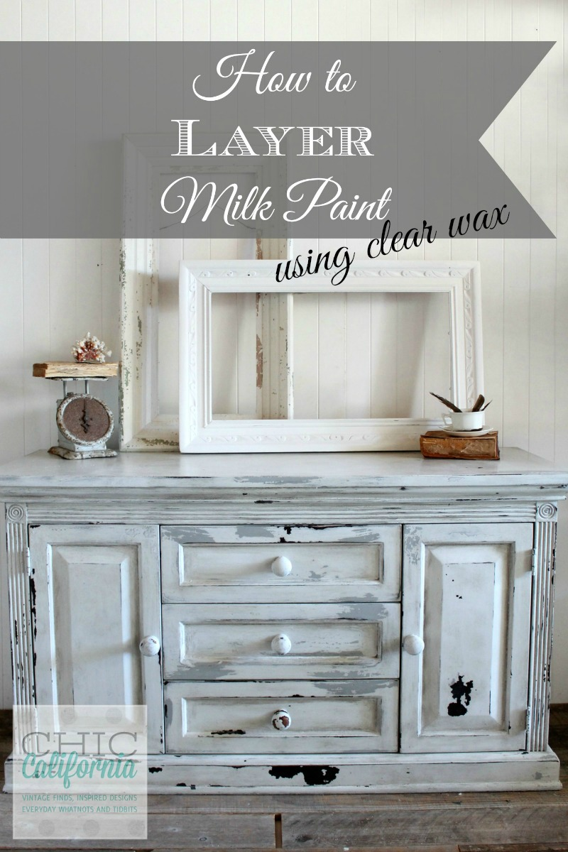How to Layer Milk Paint using Clear Wax