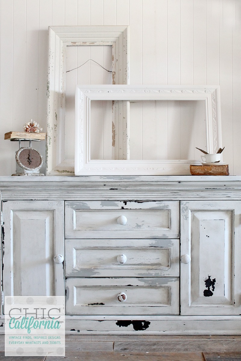 layered milk paint dresser