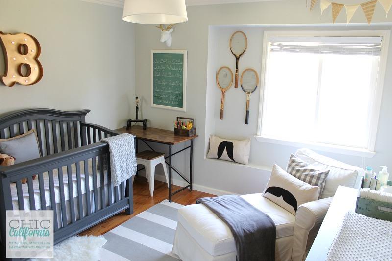Vintage Style Baby Boy Nursery Reveal Chic California
