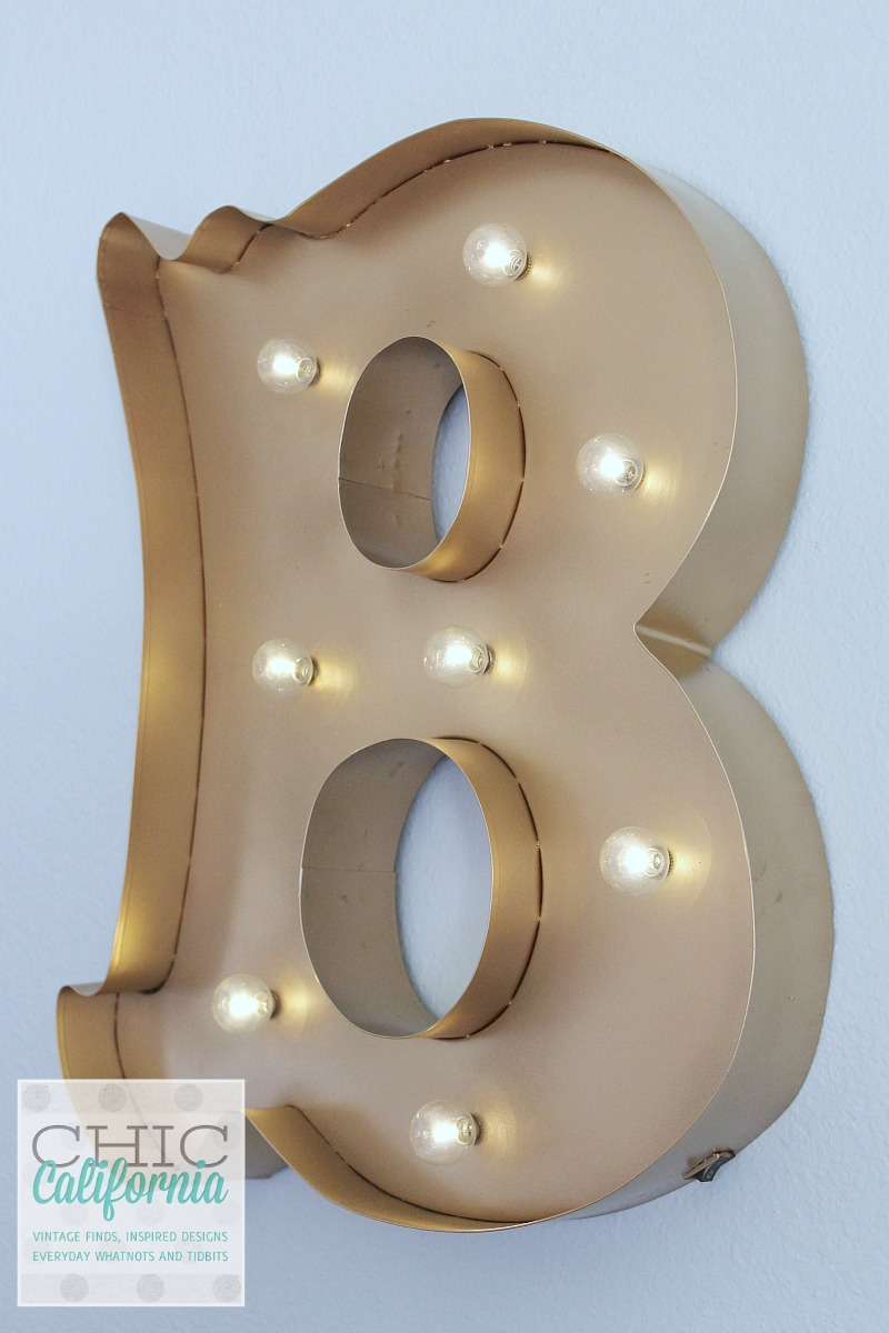 Gold Marquee Light