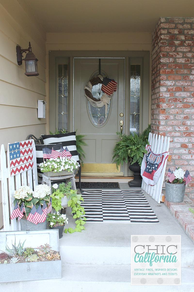 4th of July Front Door Decor