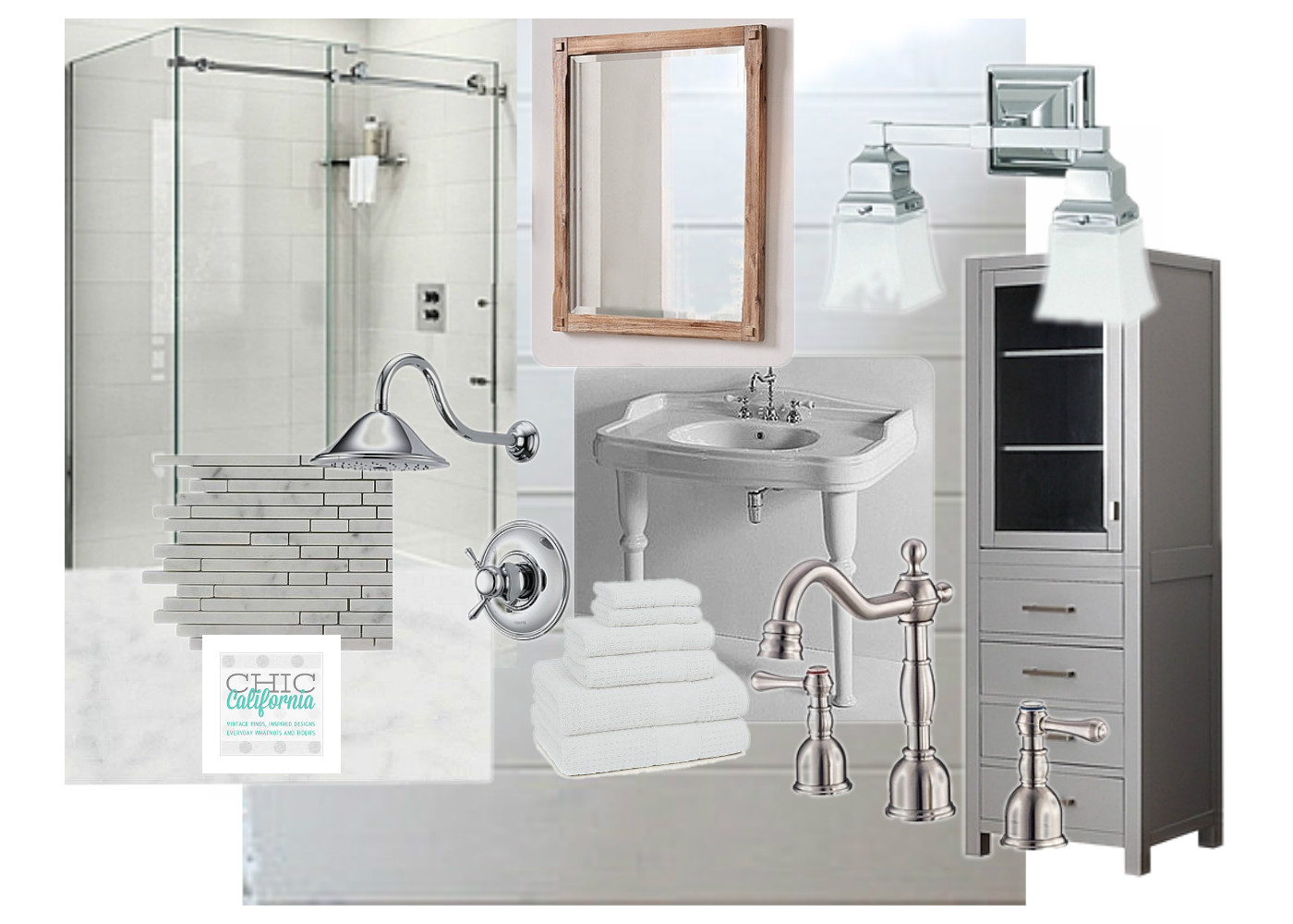 Vintage Modern Bathroom my dream vintage style classic bathroom - chic california