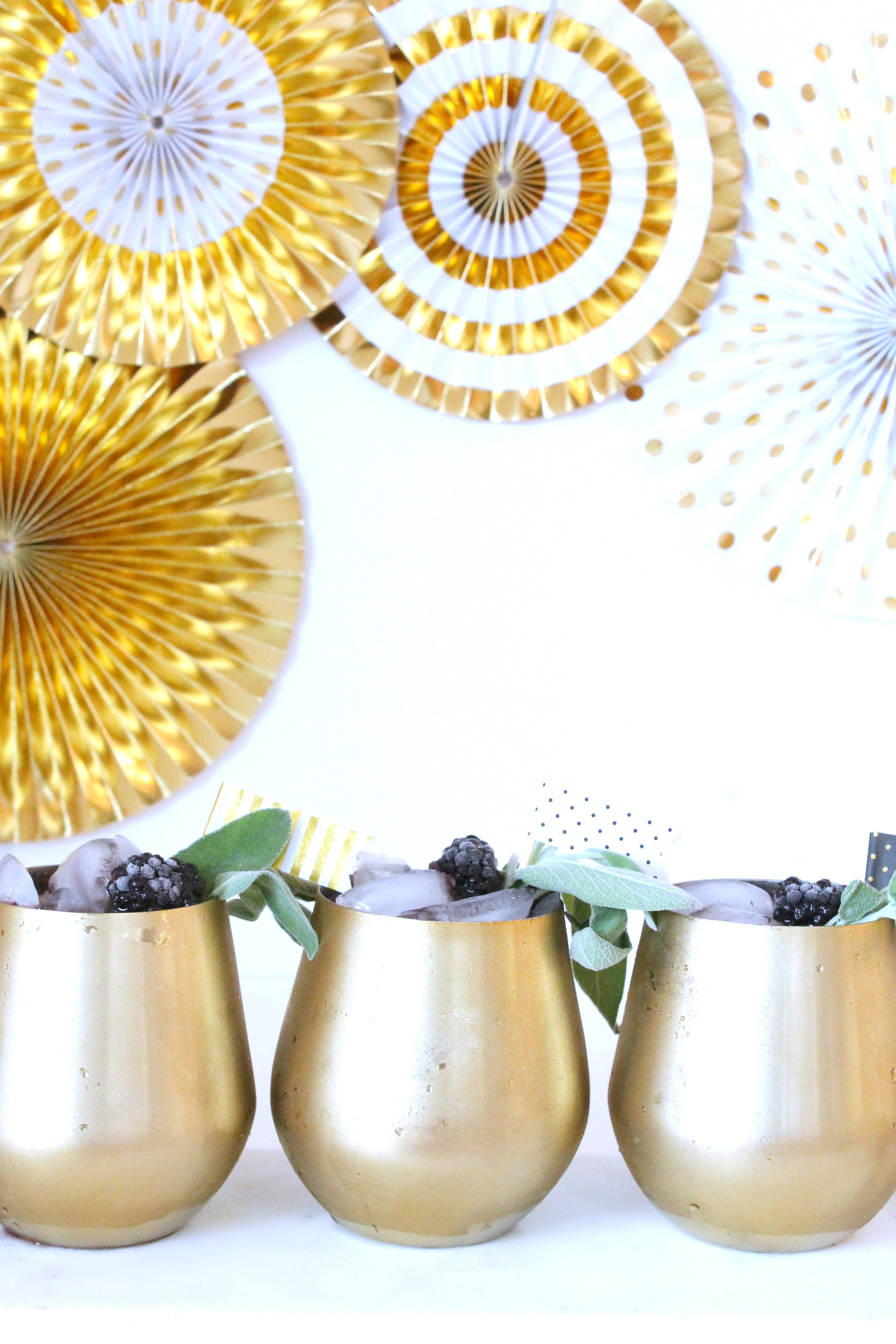 Blackberry Sage Sparkling Cocktail