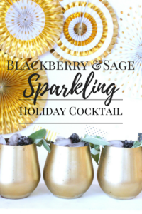 Blackberry sage Holiday Cocktail
