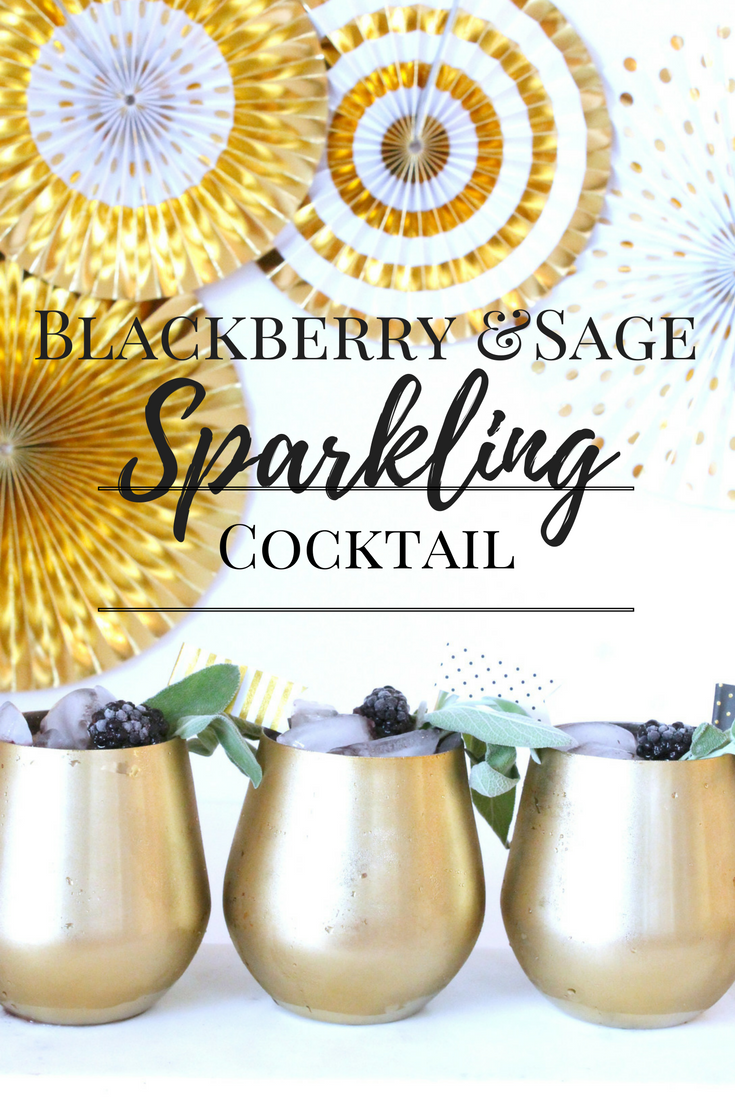 Blackberry Sage Sparkling Cocktail