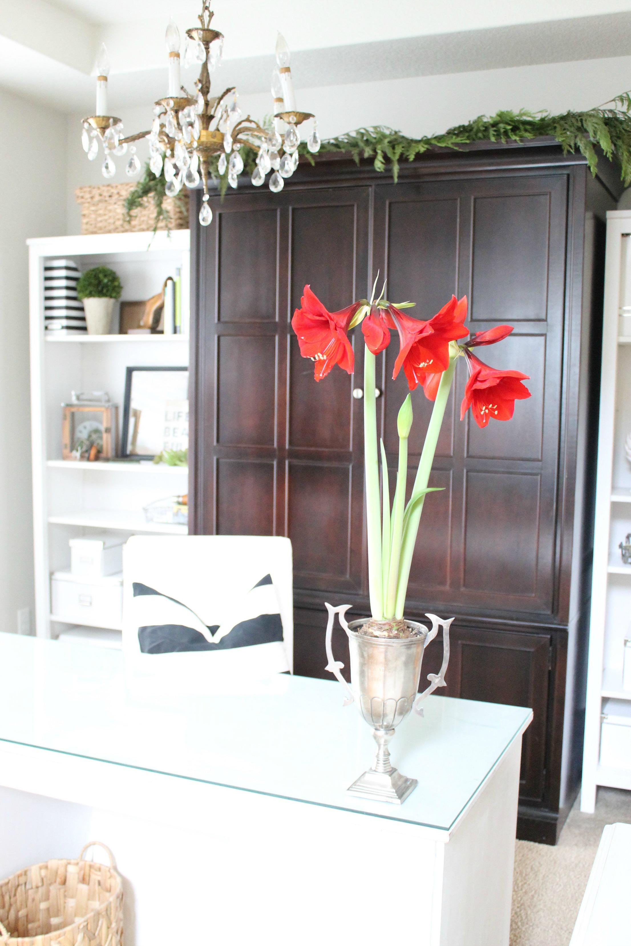 Simple Christmas Office Decor