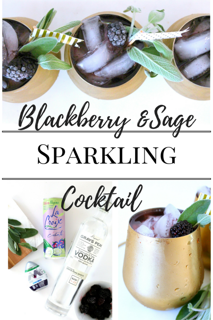 Blackberry and Sage Sparkling Cocktail Low Carb