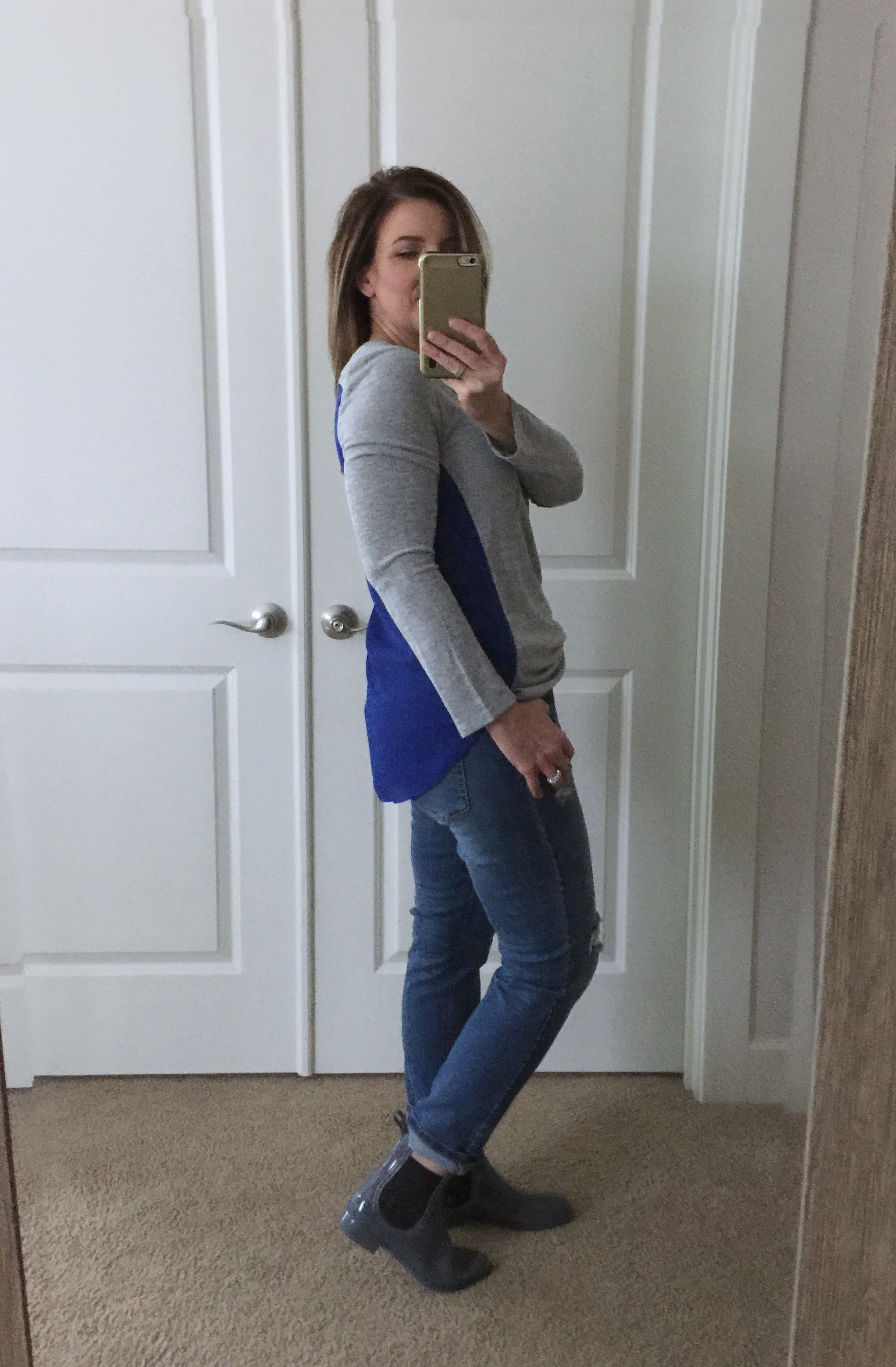 Stitch Fix DoverSheer Back Knit Top