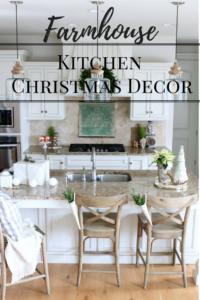 Farmhouse Style Christmas Decor in the Kitchen