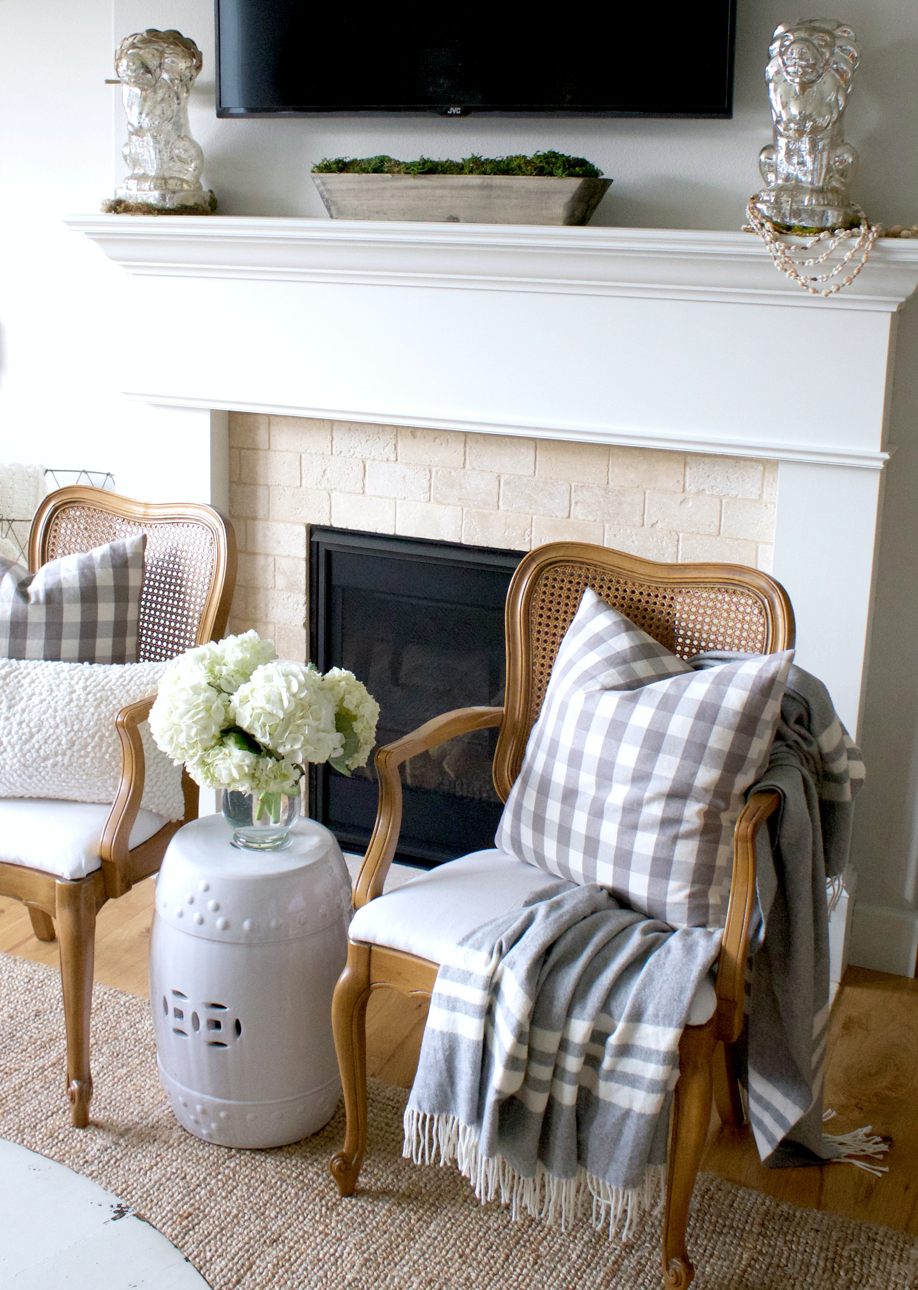Painted White Fireplace