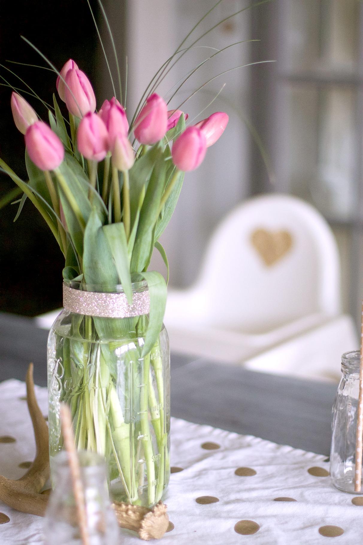 Pink Tulip Centerpiece