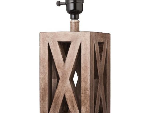 Washed Wood Box Lamp