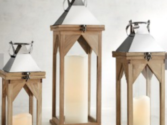 Weather Wood Lanterns