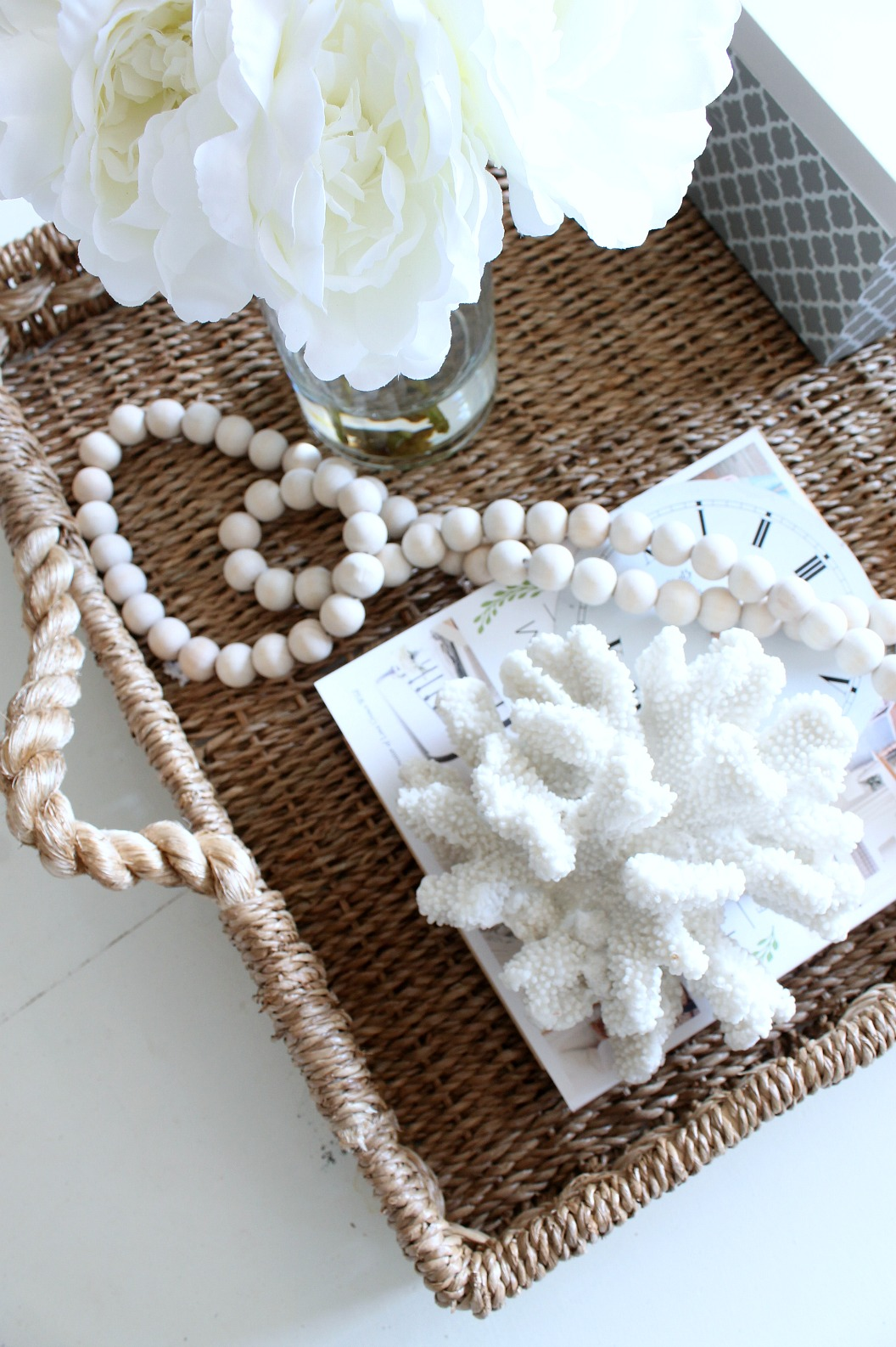 Summer Home Tour Coffee Table Basket