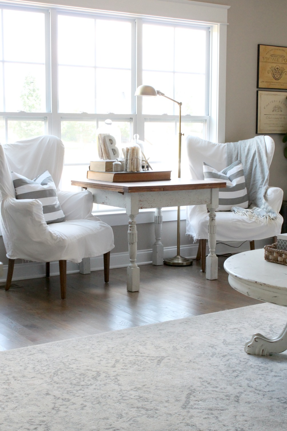 Summer Home Tour Wing Back Chairs