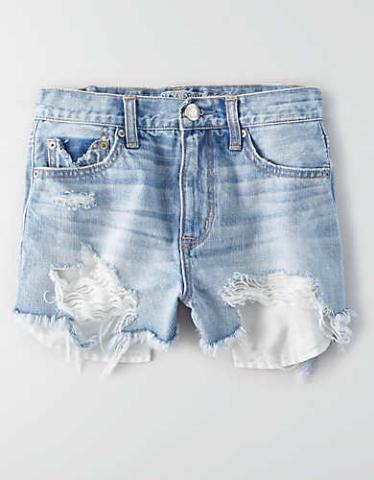 Cutoff Distressed Denim Shorts