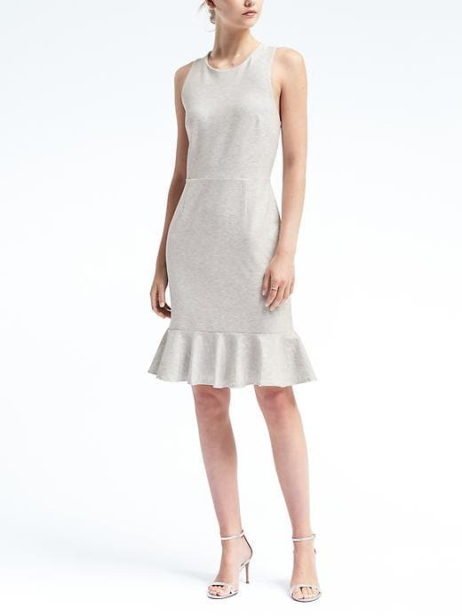 Banana Republic Cross Back Ponte Knit Dress