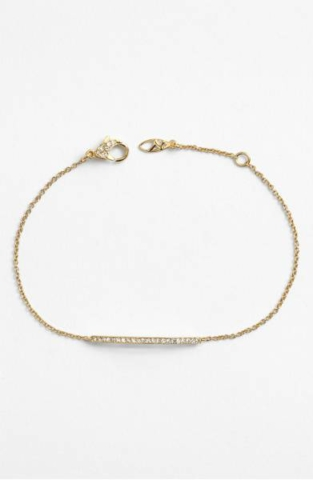 Bar Station bracelet- gold bracelet