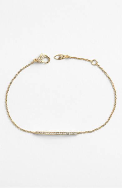 Bar Station bracelet- gold bracelet