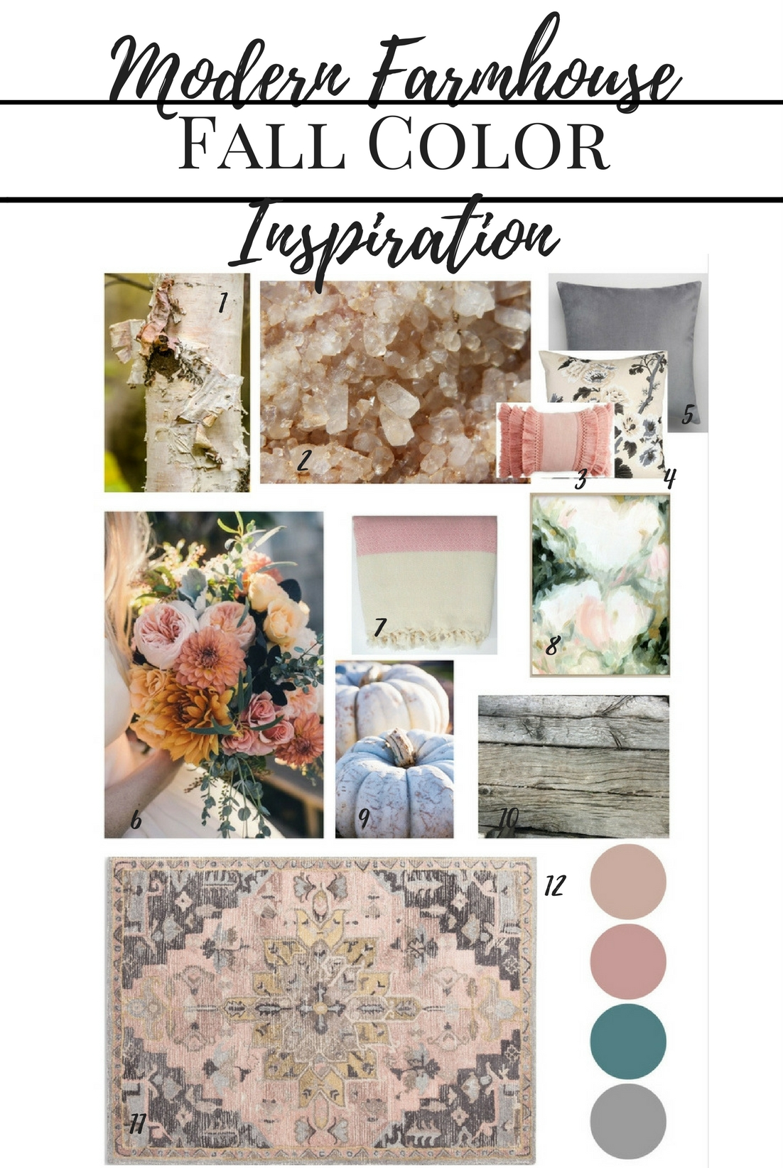 Modern Farmhouse Fall Color Inspiration