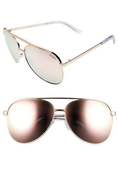 Quay 64mm Aviater Sunglasses