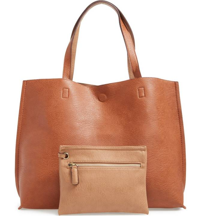 faux leather tote