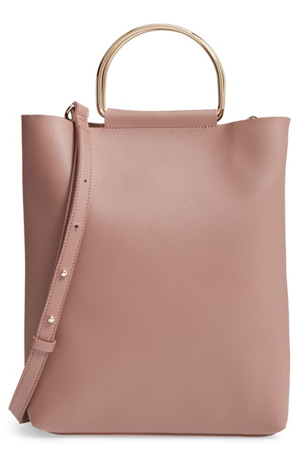 Top Shop Faux Leather Tote
