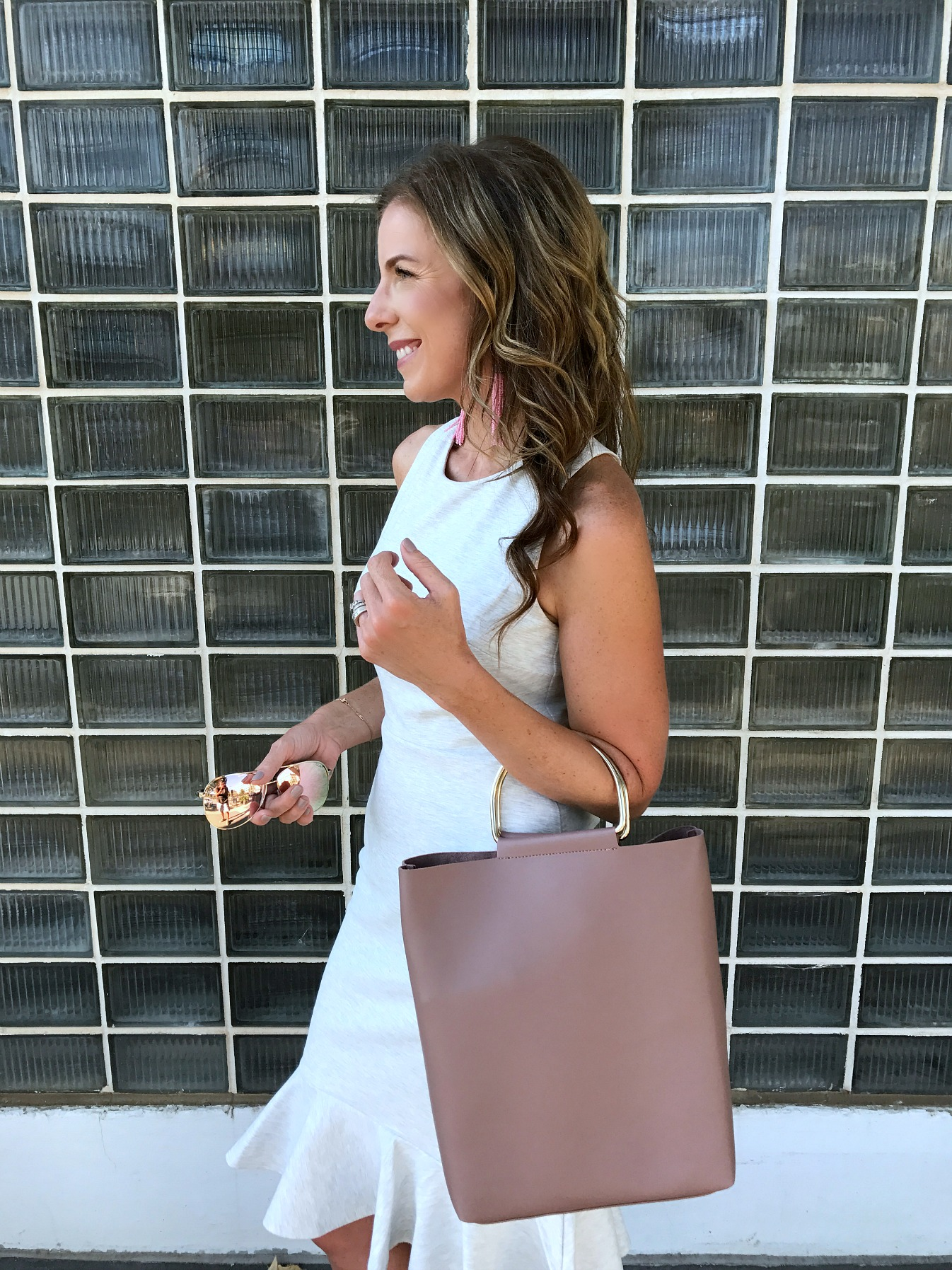 Pink and Gray Summer Outfit