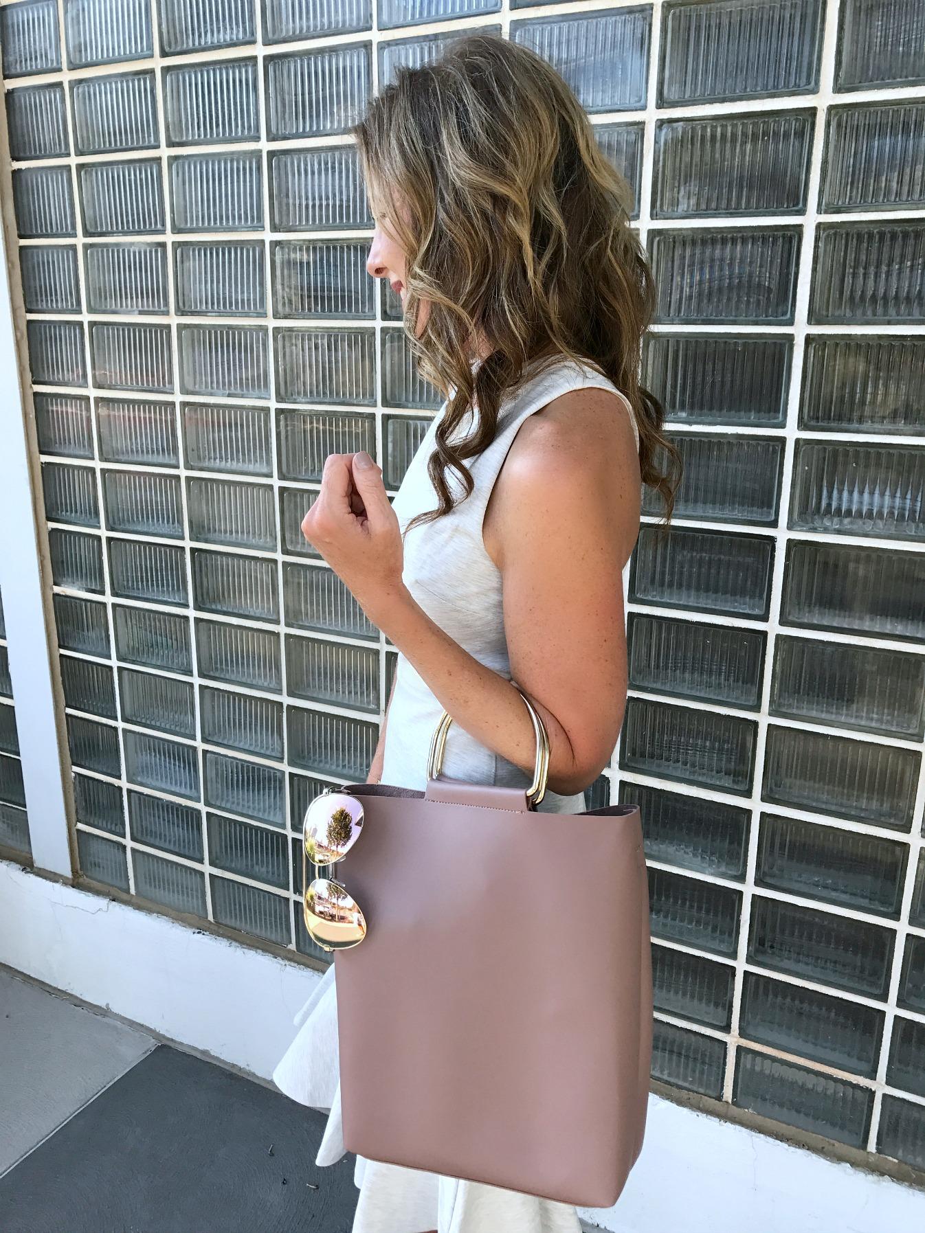 Gray and Blush Summer Dress