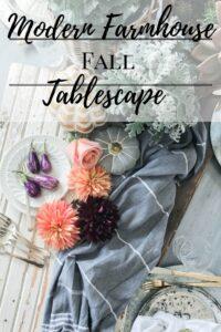 Modern Farmhouse Fall Tablescape