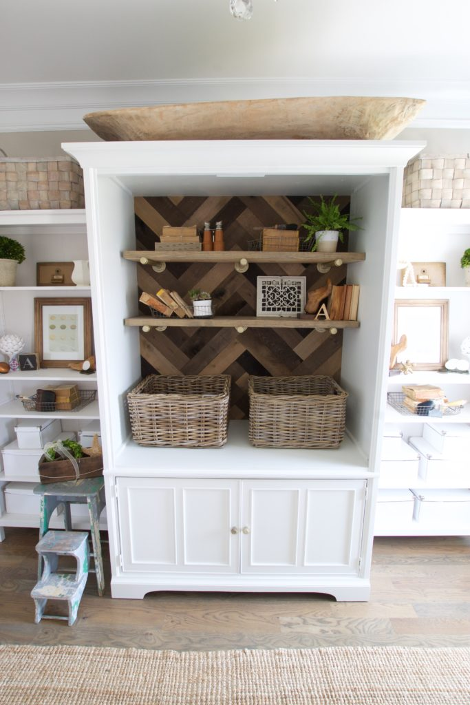 Home Office Storage Makeover using Reclaimed Wood
