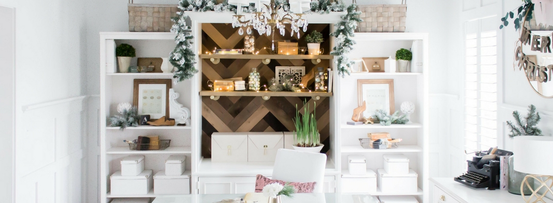 I'm Dreaming of a White Christmas Holiday Home Tour-Part II Office
